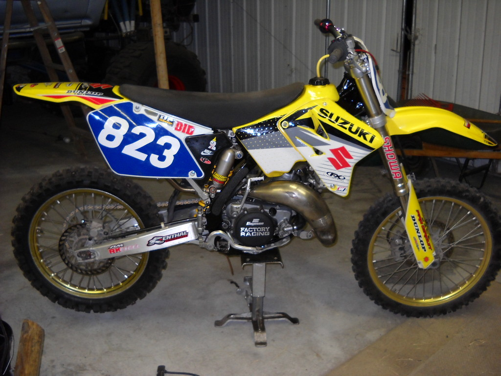 Latest Blue RM125 018 - Cancerman - Motocross Pictures - Vital MX