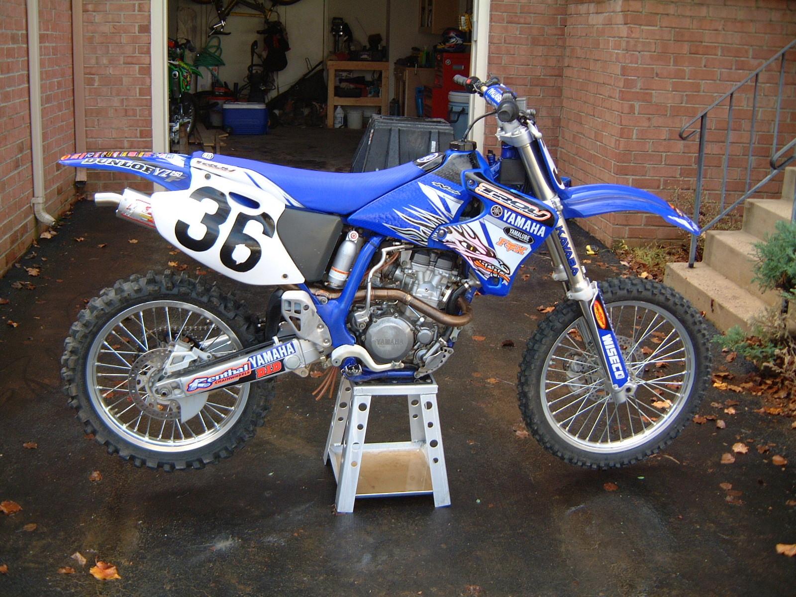 Tony blazier 39 s 2001 yamaha yz250f tblazier 39 s bike check for Yamaha yzf 250f