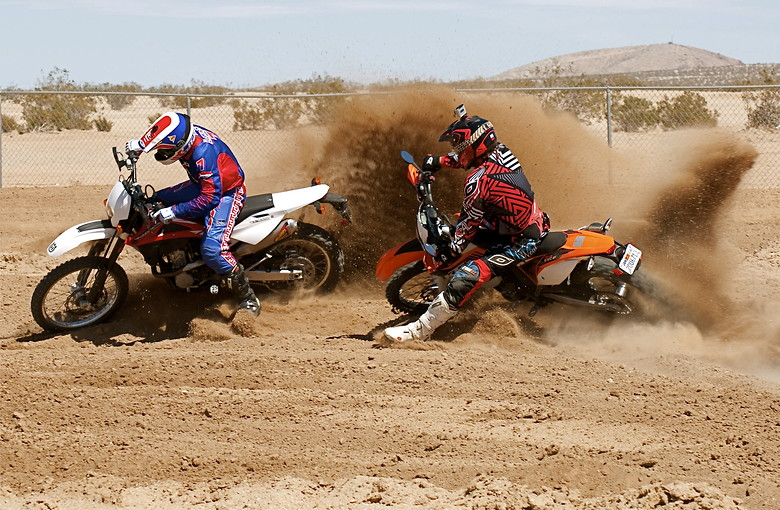 Danny LaPorte and Brand &quot;X&quot; Johnson at Calcity MX Park - DennisCCox - Motocross Pictures - Vital MX