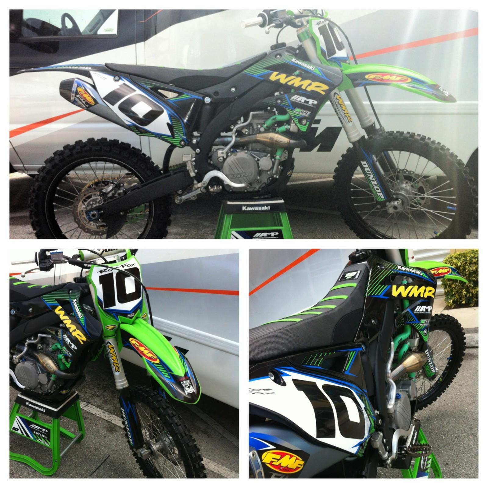Rob Foxs  KXF WMR Nihilos Bike Check Vital MX - Decal works graphics
