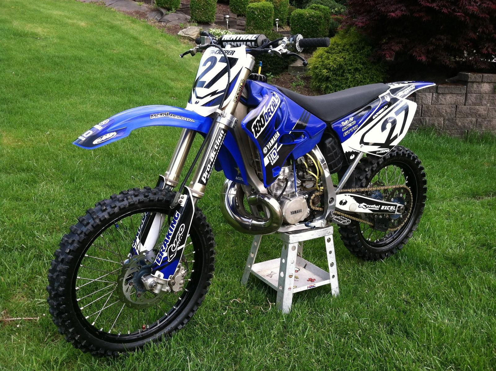 2005 yz 250 2 stroke tyler casper 27 39 s bike check for Yamaha yz250 2 stroke