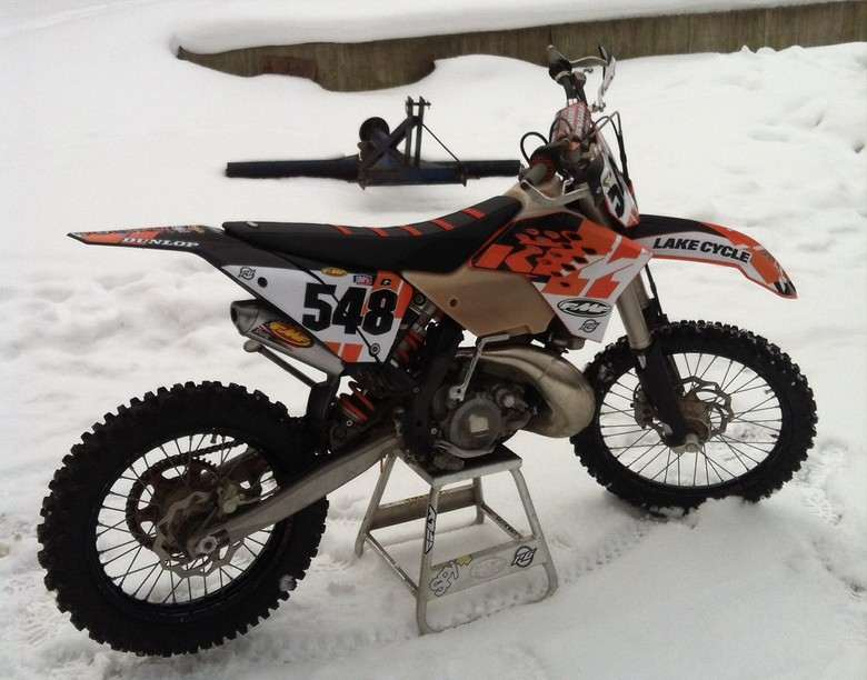 2010 ktm 200 xcw - nickclegg548's bike check - vital mx