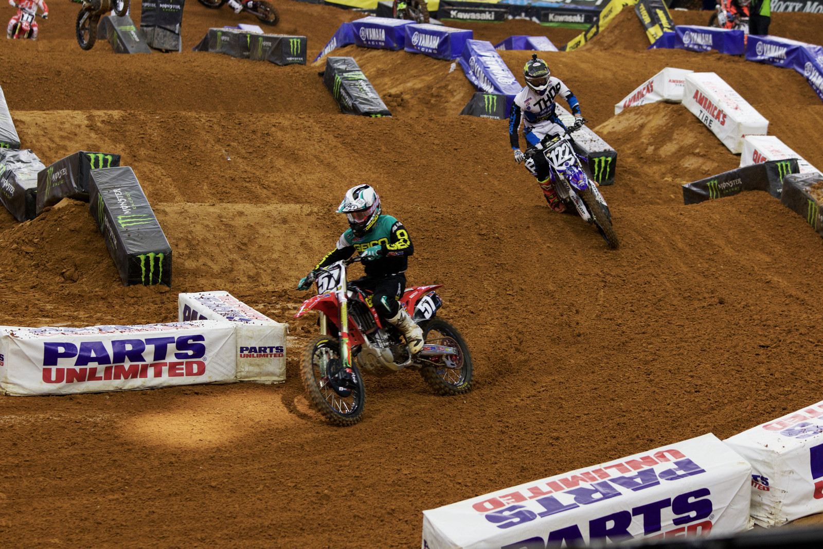Jimmy Decotis and Dan Reardon - Views from the Stands - 2017 Arlington SX - Motocross Pictures - Vital MX