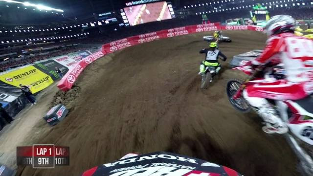 Onboard: Cole Seely - 2017 Minneapolis Supercross 450 Main Event