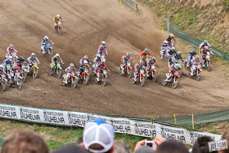 MX2 moto 1 start - Czech GP Sunday Racing pictures - Motocross Pictures - Vital MX