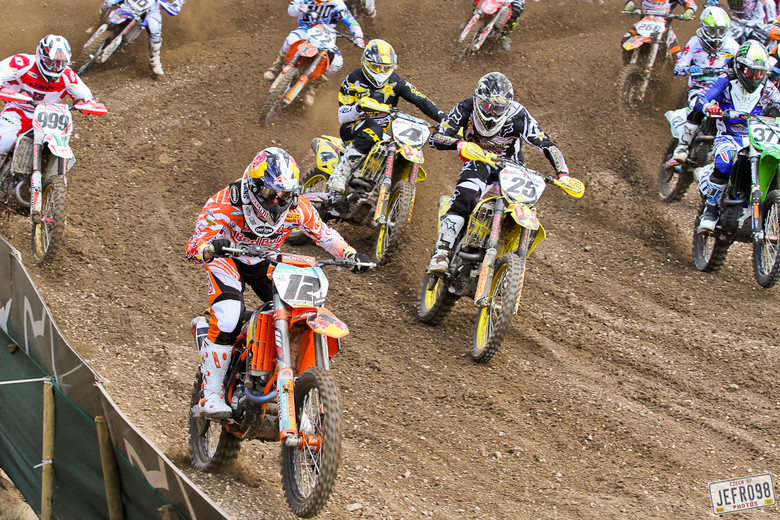 MX1 moto 2 start - Czech GP Sunday Racing pictures - Motocross Pictures - Vital MX