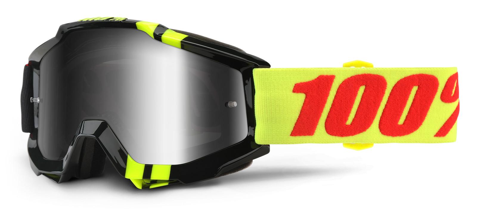 Accuri Zerbo Goggle - Mirror Silver Lens - 100percent - Motocross Pictures - Vital MX