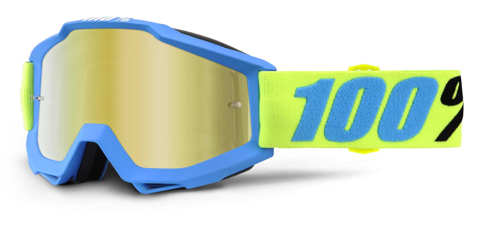 Accuri Belize Goggle - Mirror Gold Lens - 100percent - Motocross Pictures - Vital MX