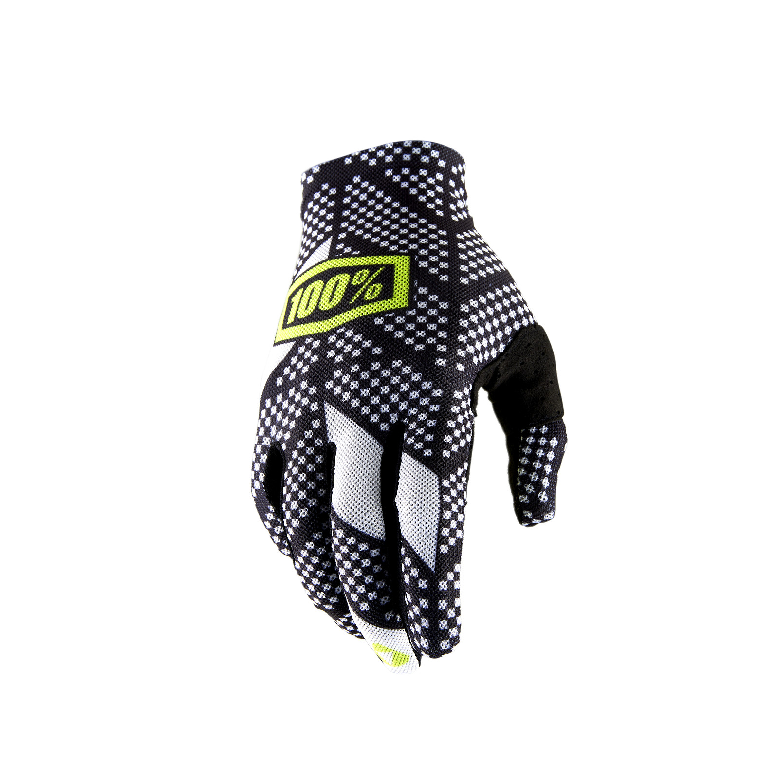 Celium 2 Glove - Code Black / White - 100percent - Motocross Pictures - Vital MX