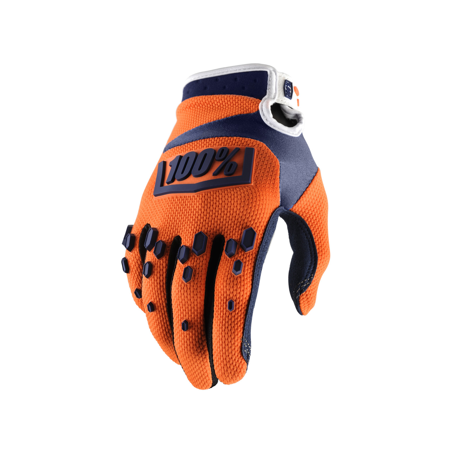 Airmatic Glove - Orange / Navy - 100percent - Motocross Pictures - Vital MX