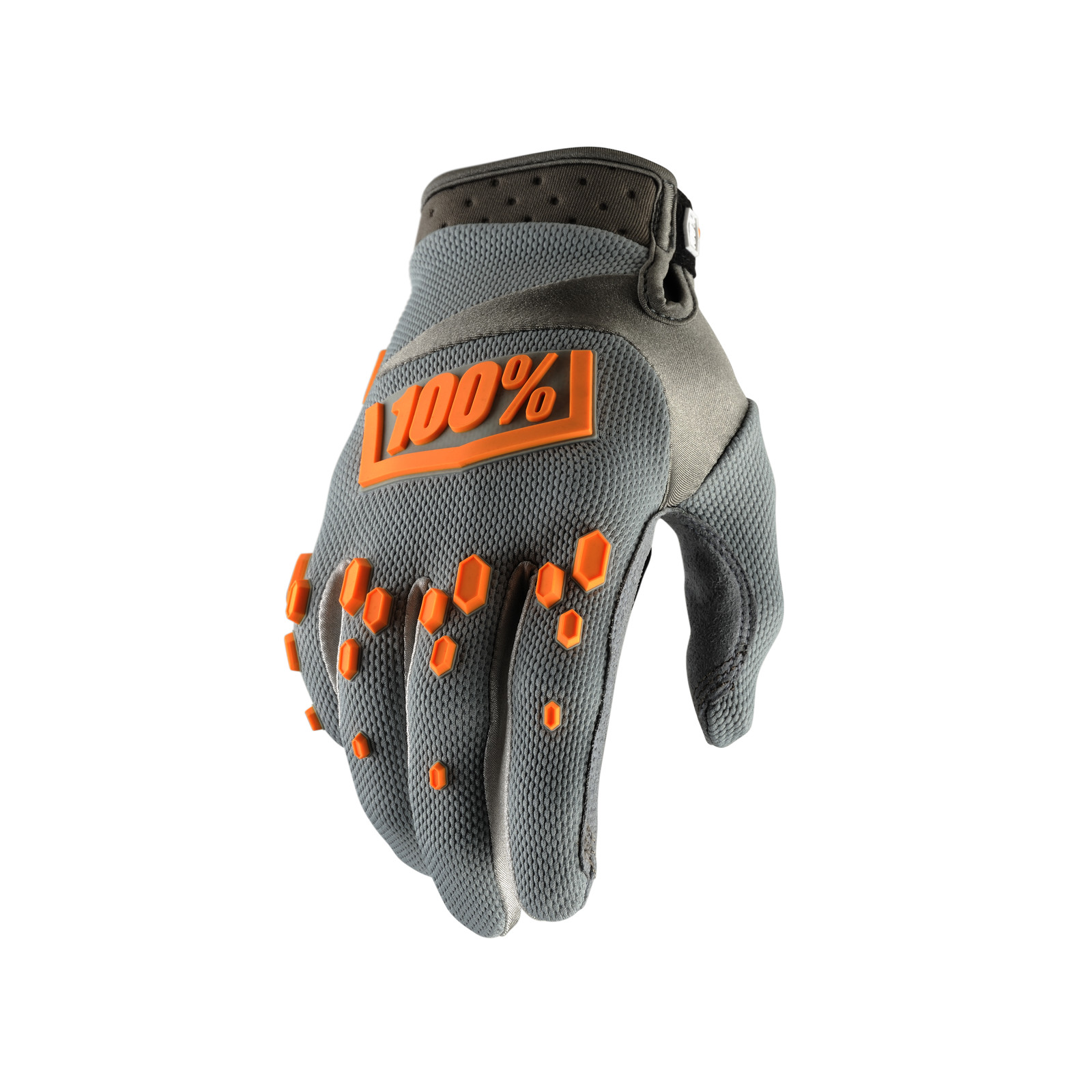 Airmatic Glove - Grey - 100percent - Motocross Pictures - Vital MX