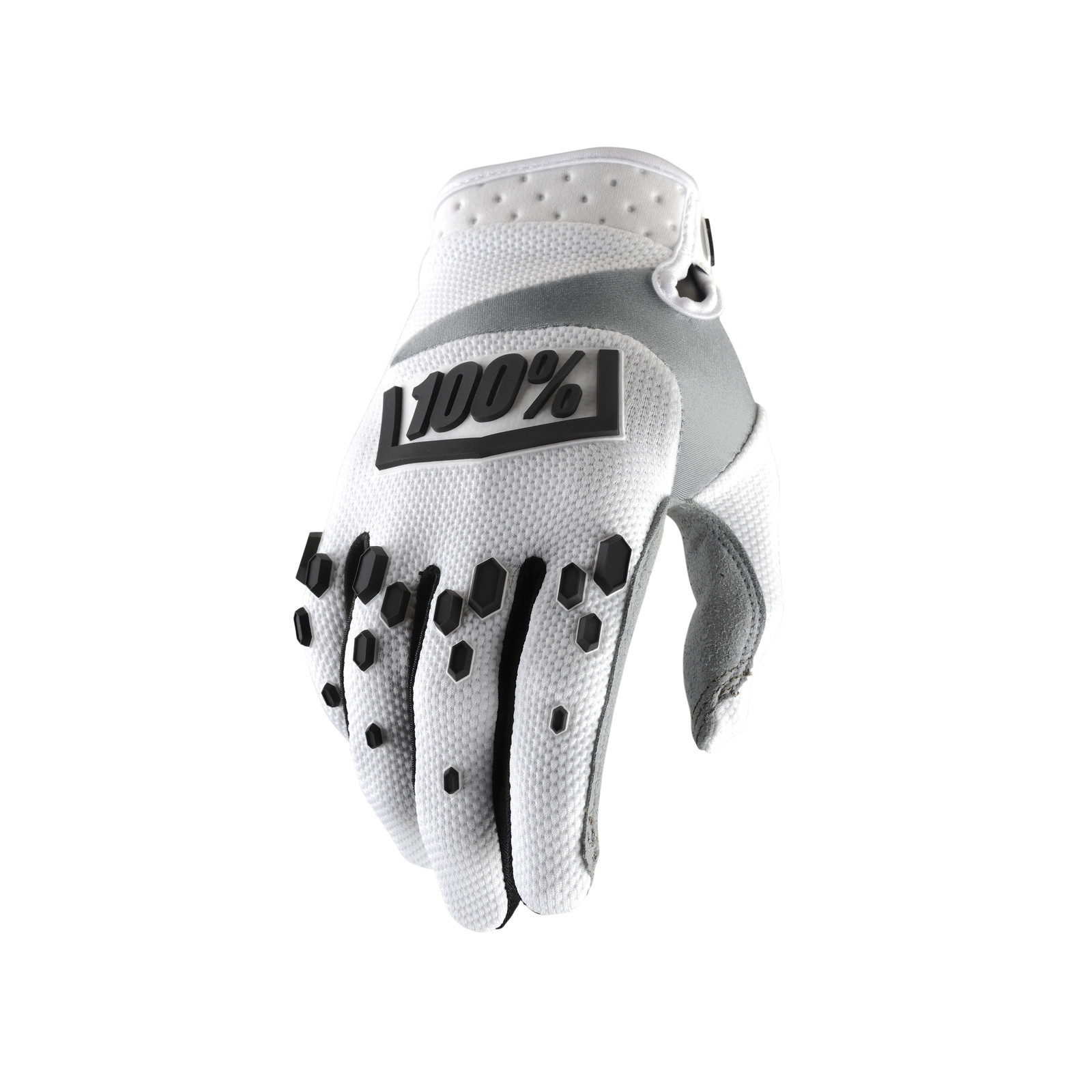 Airmatic Glove - White - 100percent - Motocross Pictures - Vital MX