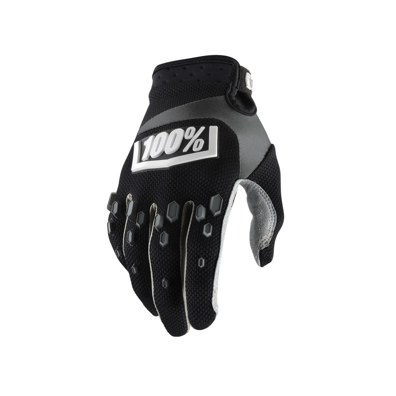 Airmatic Glove - Black - 100percent - Motocross Pictures - Vital MX