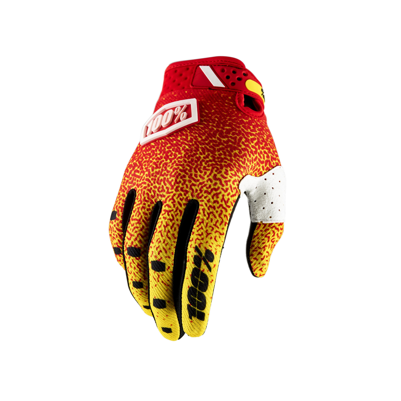Ridefit Glove - Red / Yellow - 100percent - Motocross Pictures - Vital MX