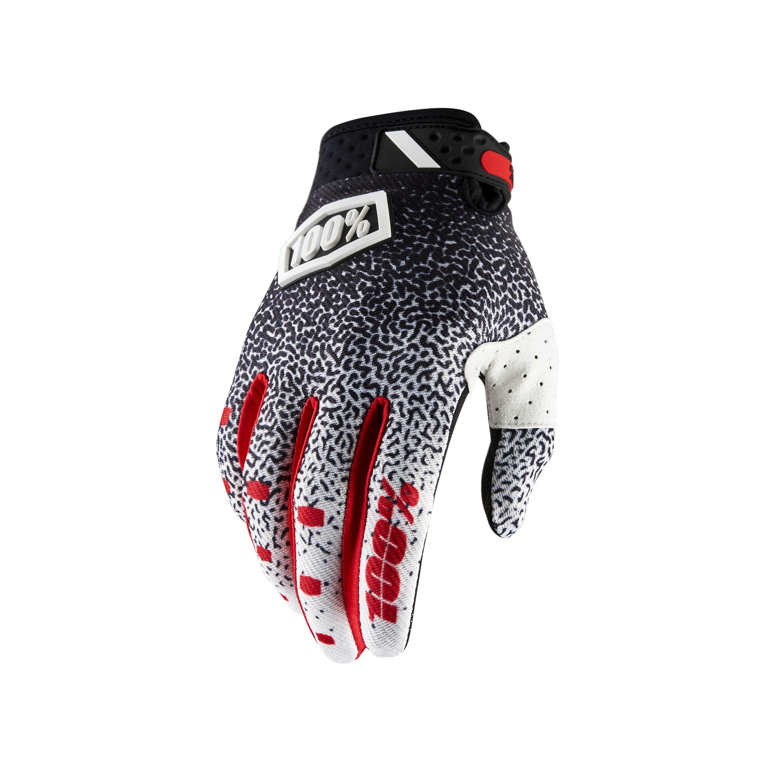 Ridefit Glove - Black / White - 100percent - Motocross Pictures - Vital MX