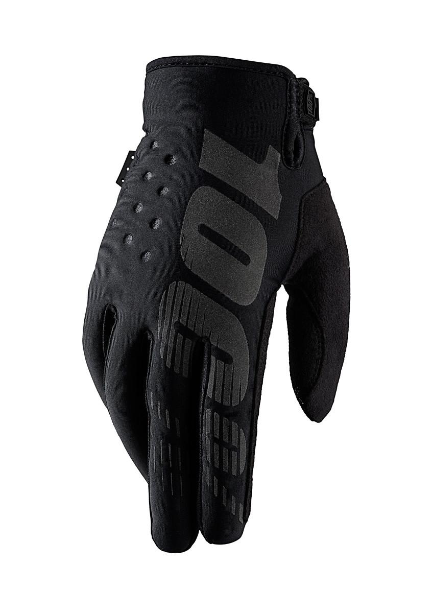 Brisker Glove - Black - 100percent - Motocross Pictures - Vital MX