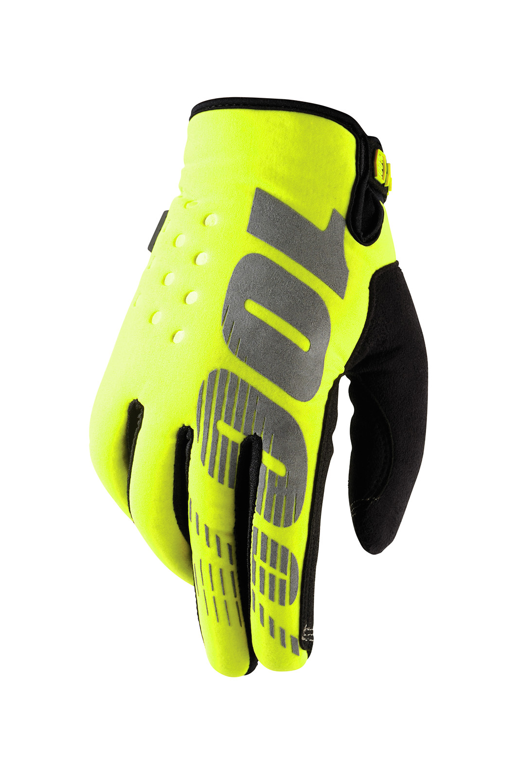 Brisker Glove - Neon Yellow - 100percent - Motocross Pictures - Vital MX
