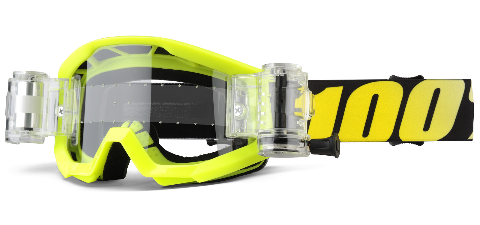 Strata Mud Junior - Neon Yellow - 100percent - Motocross Pictures - Vital MX