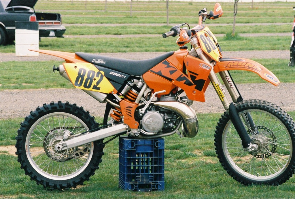 Bought thi sbike after testing the 2001 bike they used to convince John Down to ride KTM. Amazing bike. The 2003 KTM 250 was the most powerful 250 2-stroke ever mass produced. It took 3 years after for the 450 4-strokes to finally be faster.