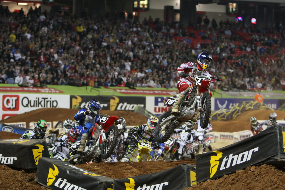 Supercross Lites heat race one - Monster Energy Supercross: Atlanta 2009 - Motocross Pictures - Vital MX