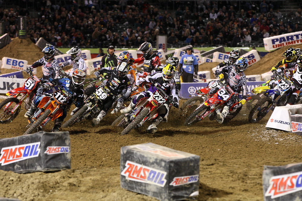 Supercross Lites heat race two start - Photo Blast: Oakland 2012 - Motocross Pictures - Vital MX