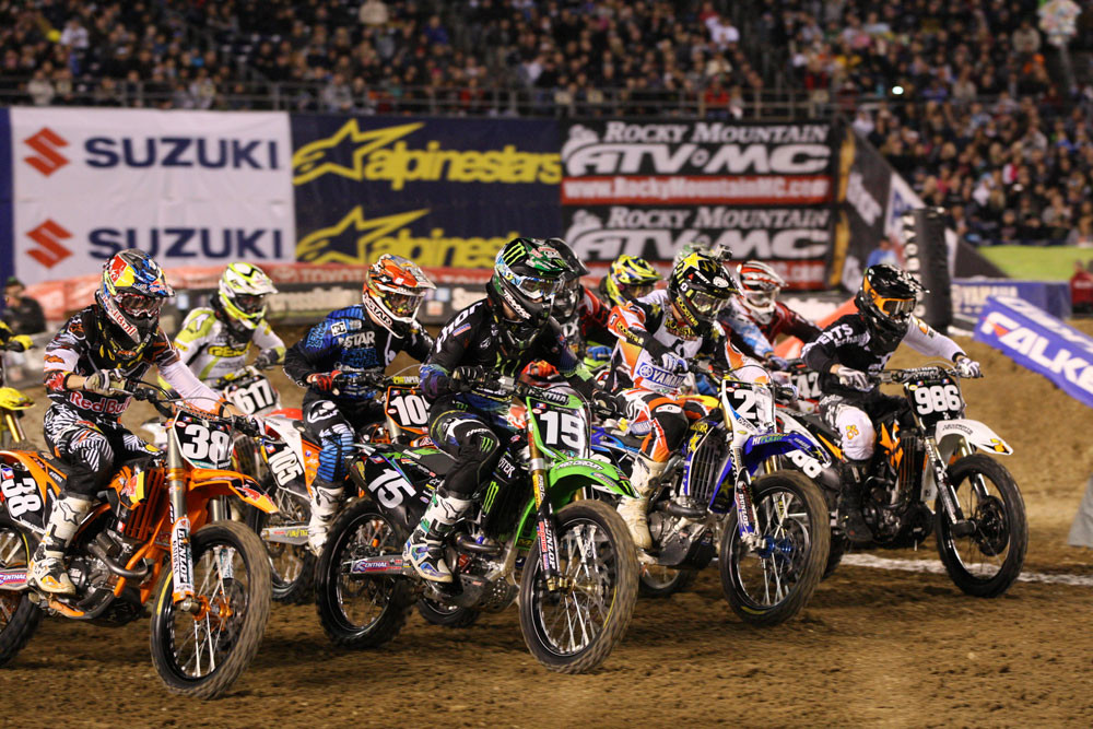 Supercross Lites heat one start/Dean Wilson - Photo Blast: San Diego 2012 - Motocross Pictures - Vital MX