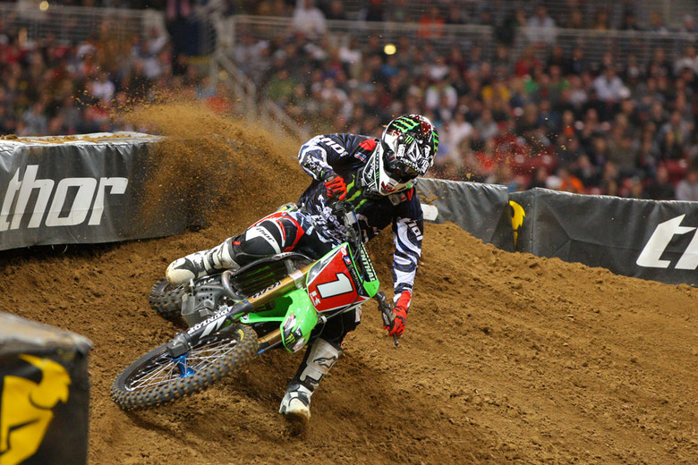 Ryan Villopoto ran much of the main by himself while out front.