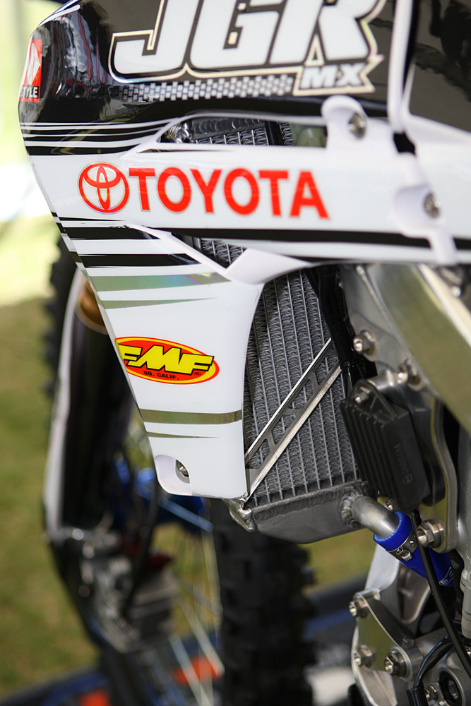 JGR radiators - Vital MX Pit Bits: Las Vegas - Motocross Pictures - Vital MX