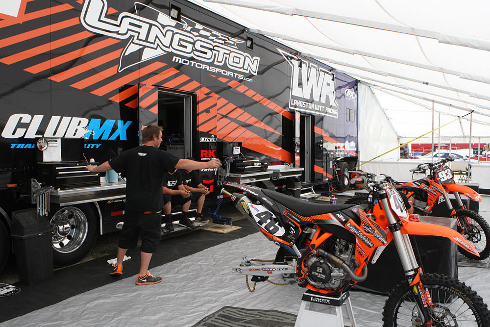 Langston-Witt Racing - Vital MX Pit Bits: Budds Creek - Motocross Pictures - Vital MX