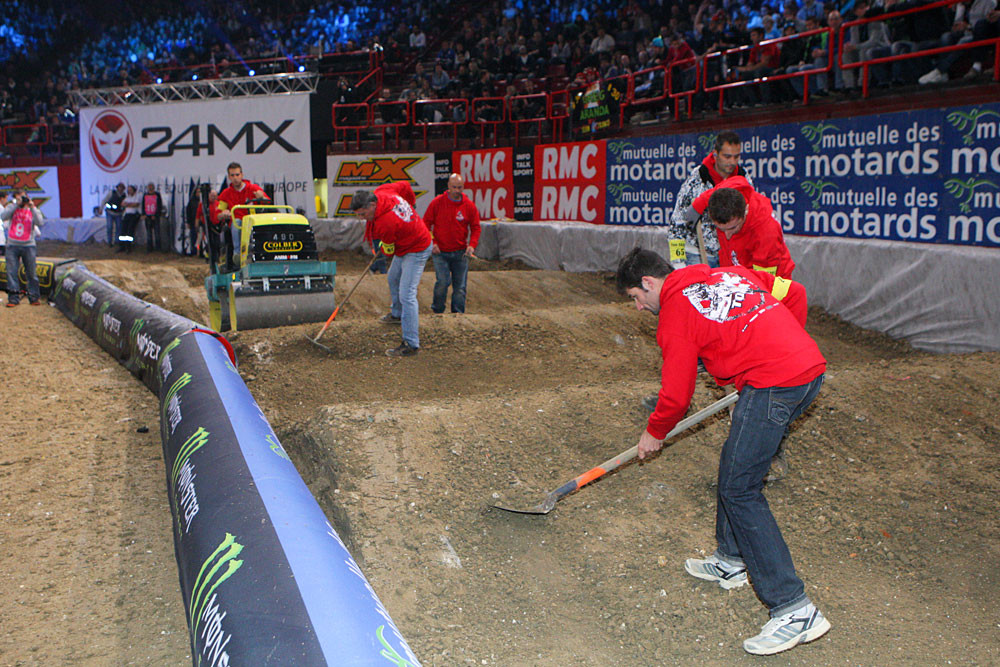Track maintenance - Photo Blast: Bercy Night One - Motocross Pictures - Vital MX