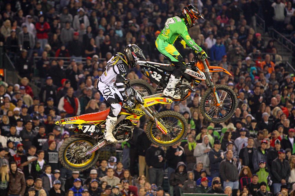 Malcolm Stewart and Max Anstie - Photo Blast: Anaheim 1 - Motocross Pictures - Vital MX