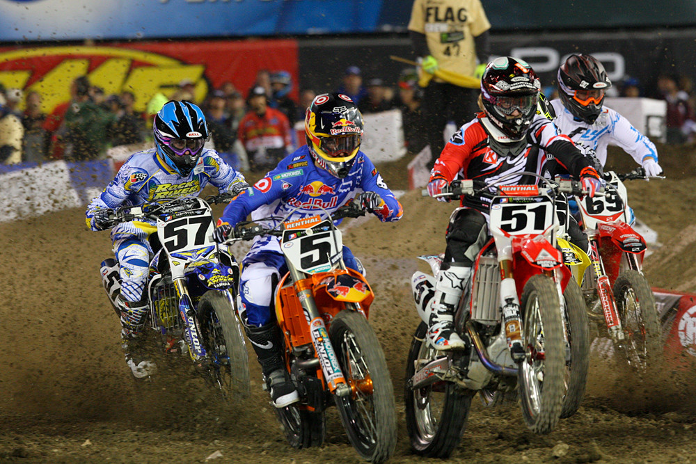 Ryan Dungey and Justin Barcia - Photo Blast: Anaheim 1 - Motocross Pictures - Vital MX