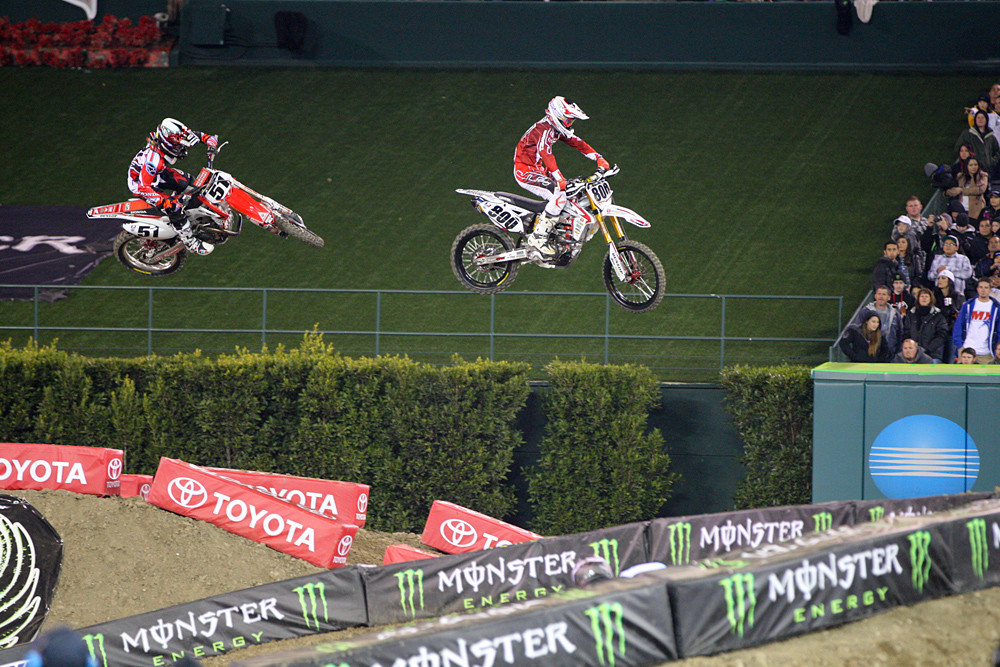 Justin Barcia and Mike Alessi - Photo Blast: Anaheim 1 - Motocross Pictures - Vital MX