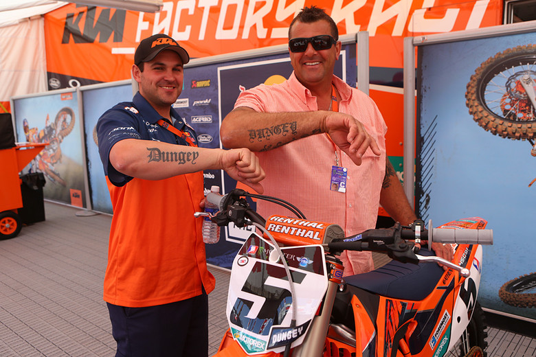 Photo of Ryan Dungey & his friend driver  Jade -