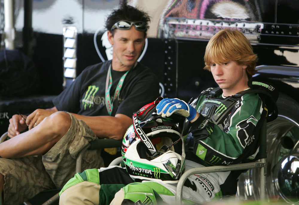 Randy Lawrence and Ryan Villopoto. - Glen Helen '06 Saturday - Motocross Pictures - Vital MX