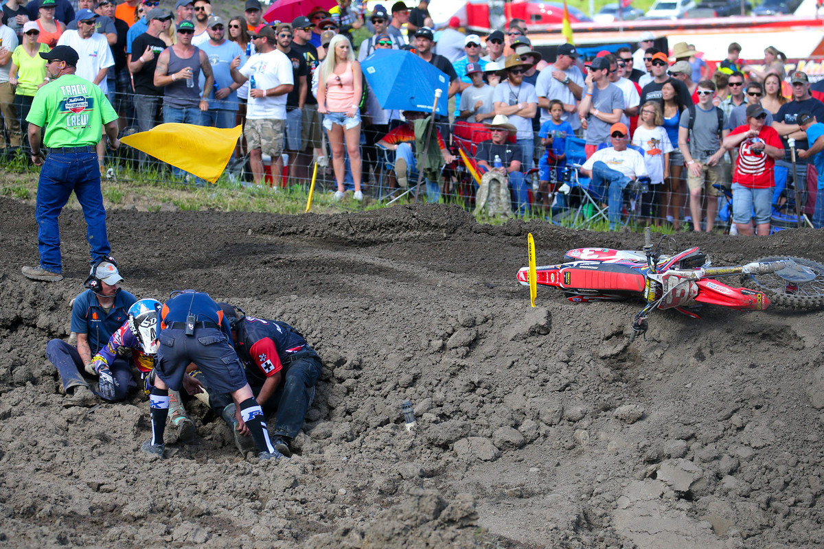 Where his 2015 season came to a rough end... Thunder Valley.
