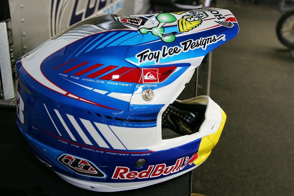 Troy Lee Designs Helmet >> Troy Lee Designs Red Bull Honda - Vital MX Pit Bits: Saturday at Anaheim 1 2008 - Motocross ...