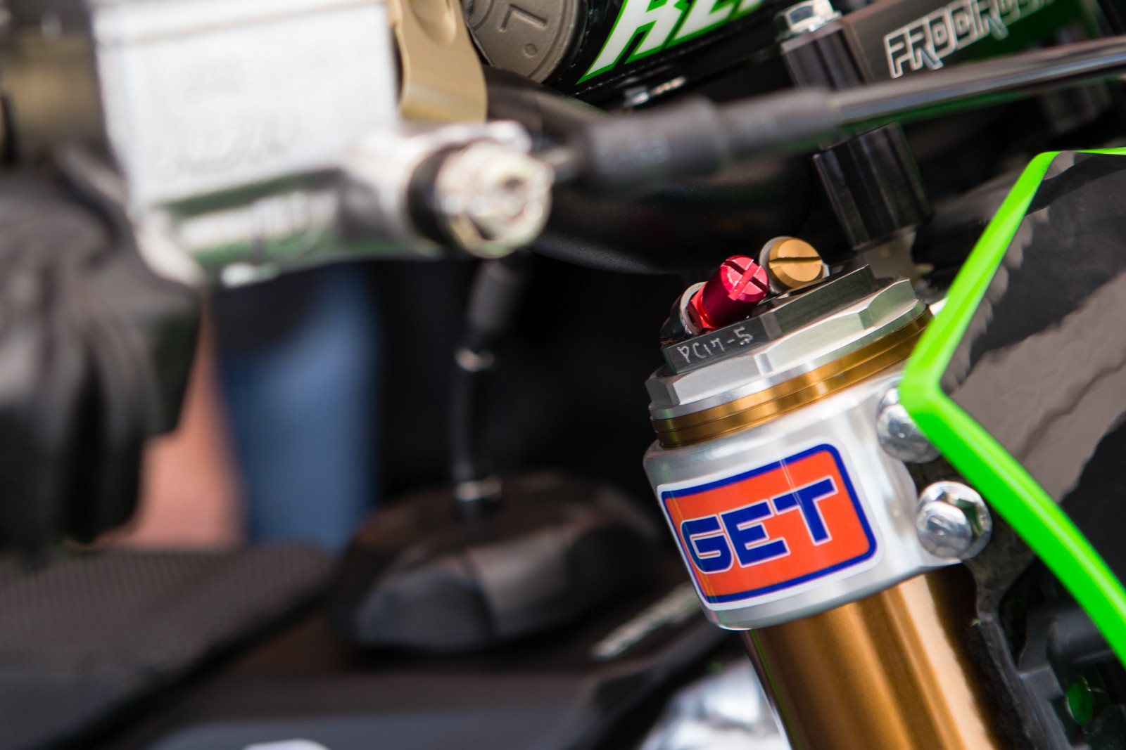 Showa Spring with Air Assist - Vital MX Pit Bits: Anaheim 1 - Motocross Pictures - Vital MX