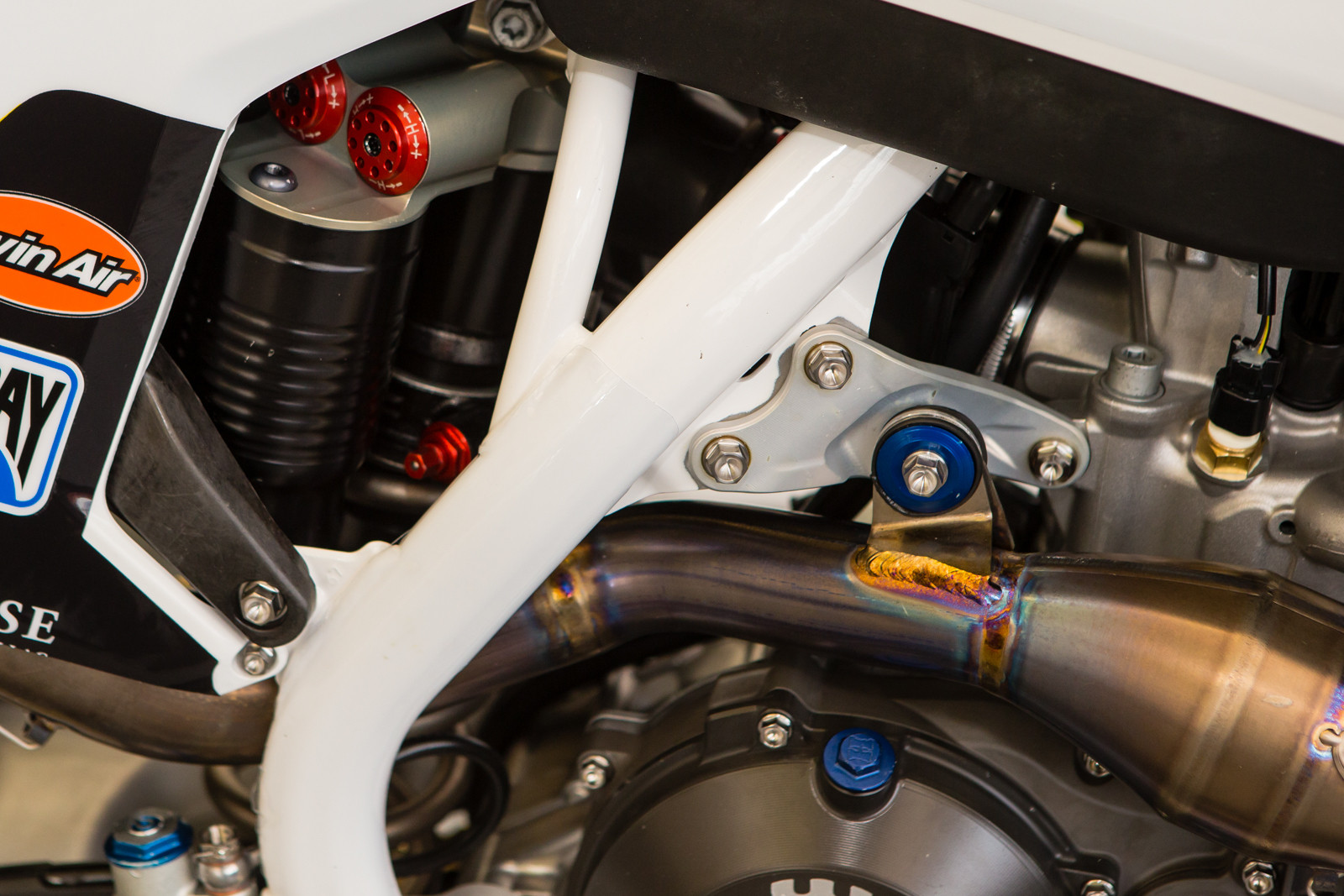 Rockstar Husqvarna Aluminum Engine Mount - Vital MX Pit Bits: Glendale - Motocross Pictures - Vital MX