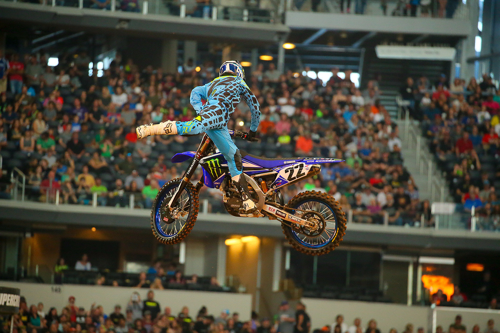 Photo Blast: Arlington, and Chad Reed during rider introductions - Photo Blast: Arlington - Motocross Pictures - Vital MX