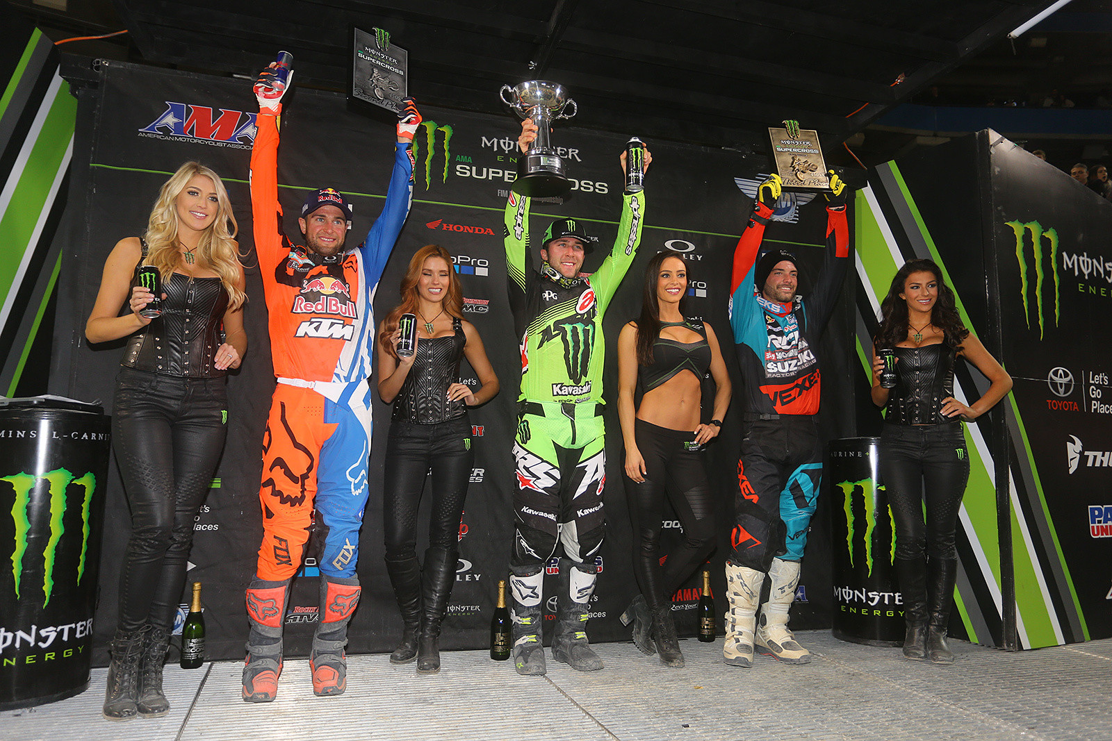 Eli Tomac 1st Ryan Dungey 2nd And Broc Tickle 3rd
