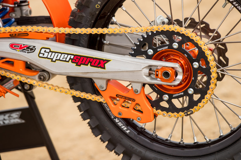 TM Designs chain guides and sliders are a great long-term part on practically any brand.