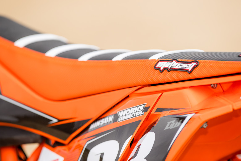 MotoSeat capped things off with a custom ribbed cover.