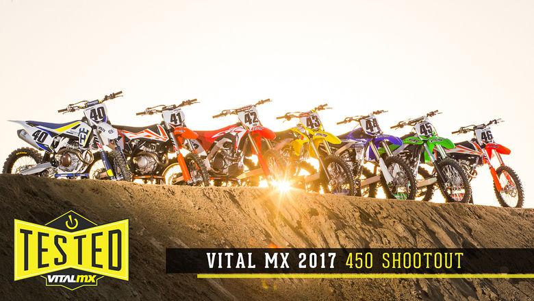 2017 Vital MX 450 Shootout - Motocross Feature Stories