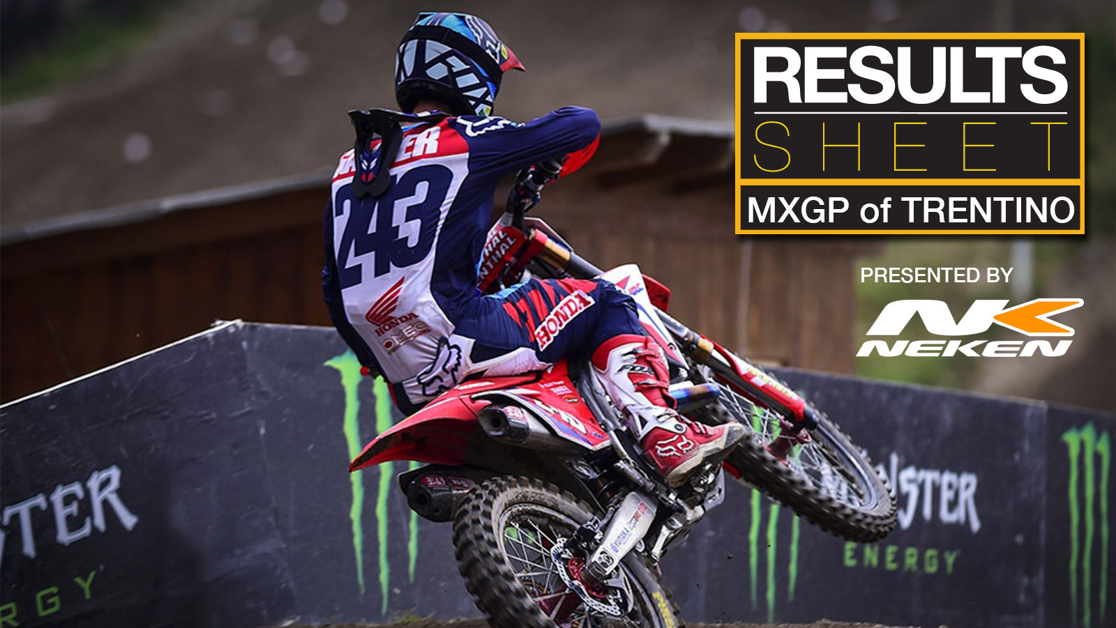 Results Sheet: 2017 MXGP of Trentino