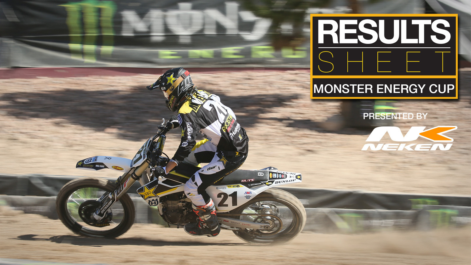 Results Sheet: 2017 Monster Energy Cup