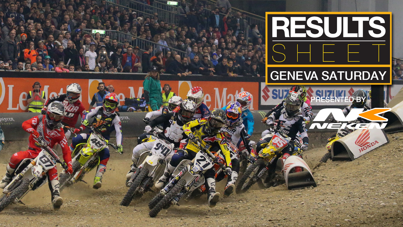 Results Sheet: Geneva Supercross Night Two