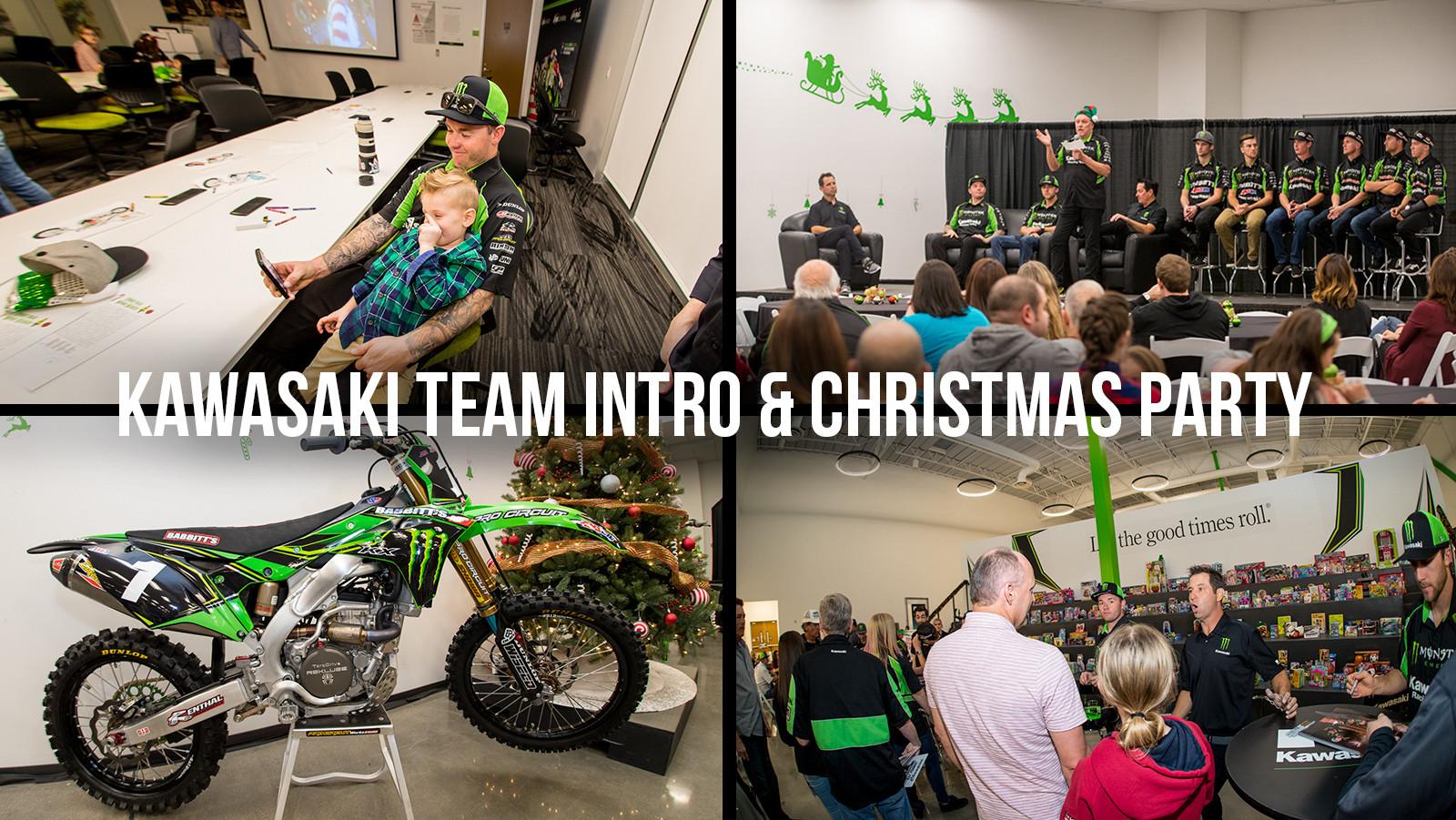 Kawasaki Christmas Party - Team Intro for Supercross and Arenacross