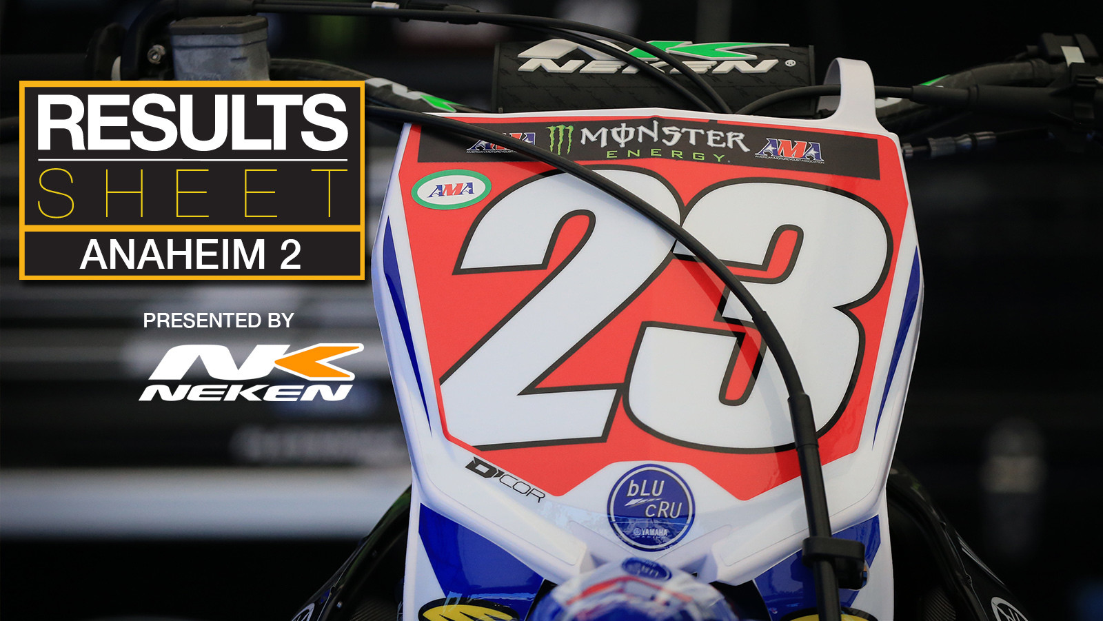 Results Sheet: 2018 Anaheim 2 Supercross