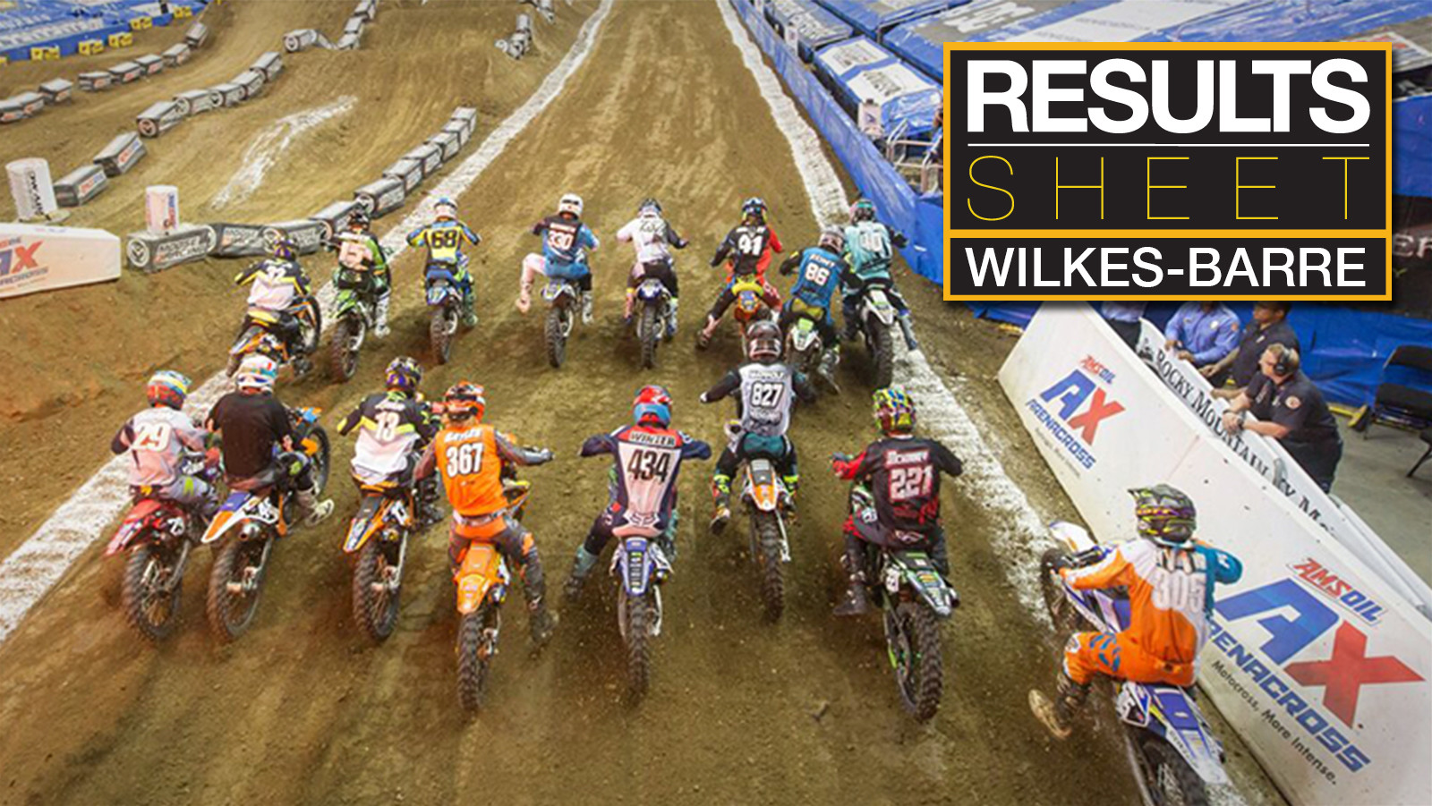 Results Sheet: 2018 Wilkes-Barre Arenacross